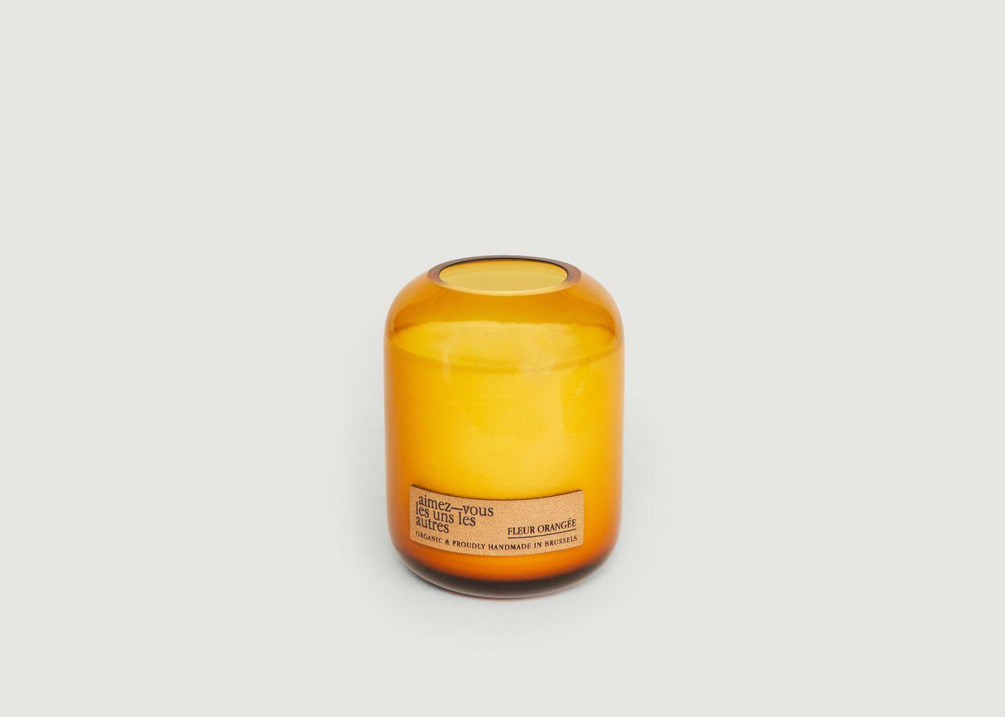 Bougie Piece & Love - Fleur Orangée - 300gr - Aimez-Vous les Uns les autres
