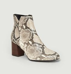 Bottines En Cuir Effet Python Virgin