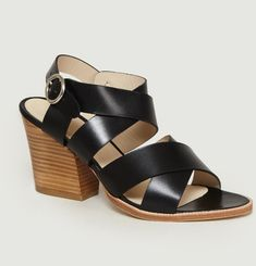Sandales à Talons Greta en Cuir