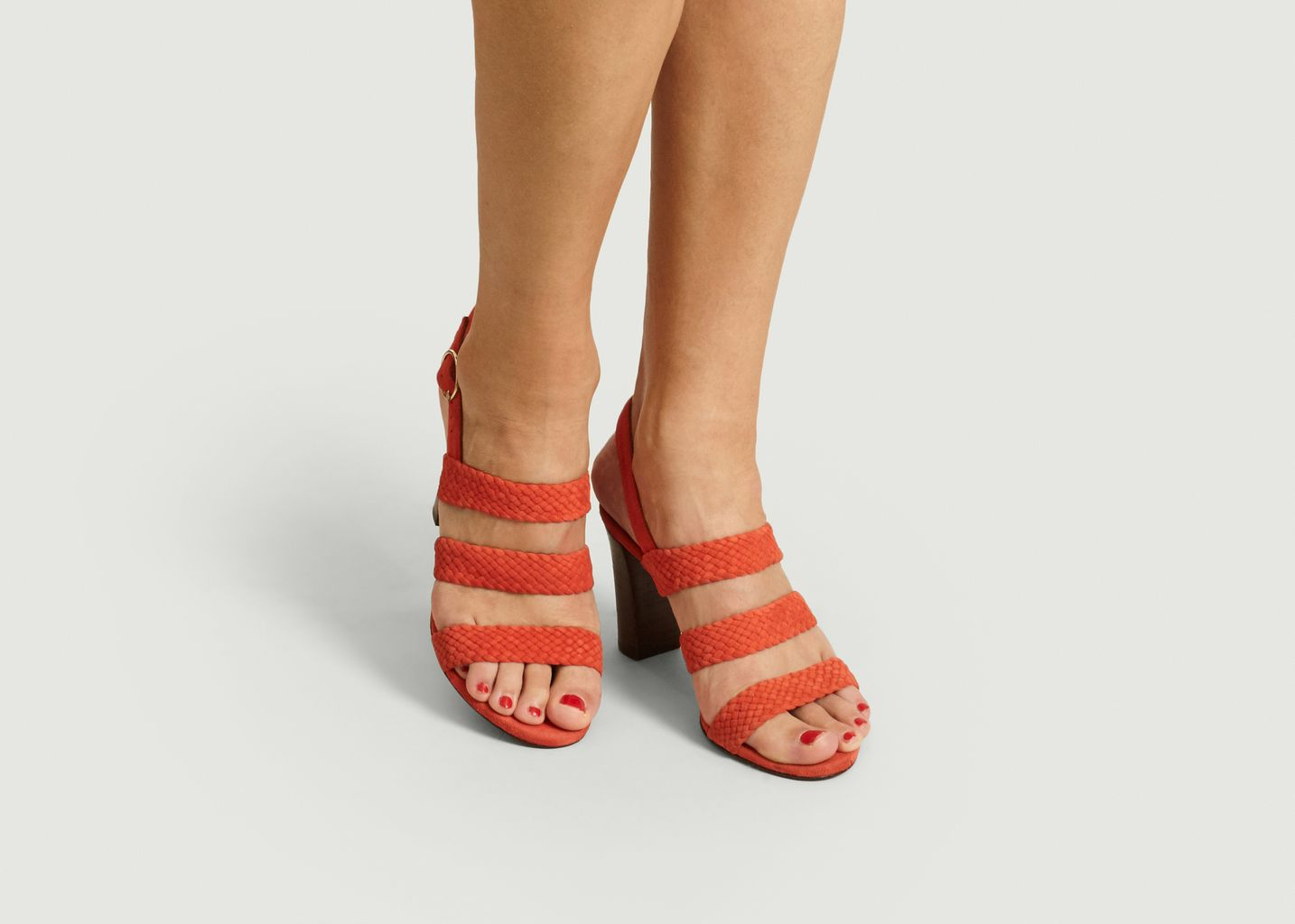 Sandales en daim tressé Candice - Anaki