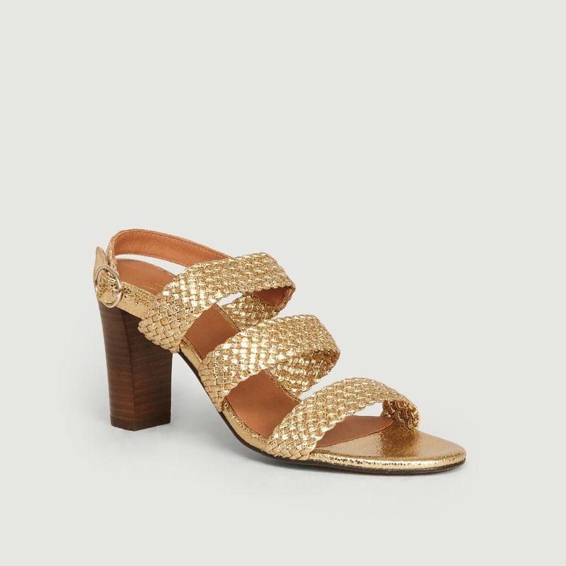Sandales en cuir craquelé tressé Candice - Anaki