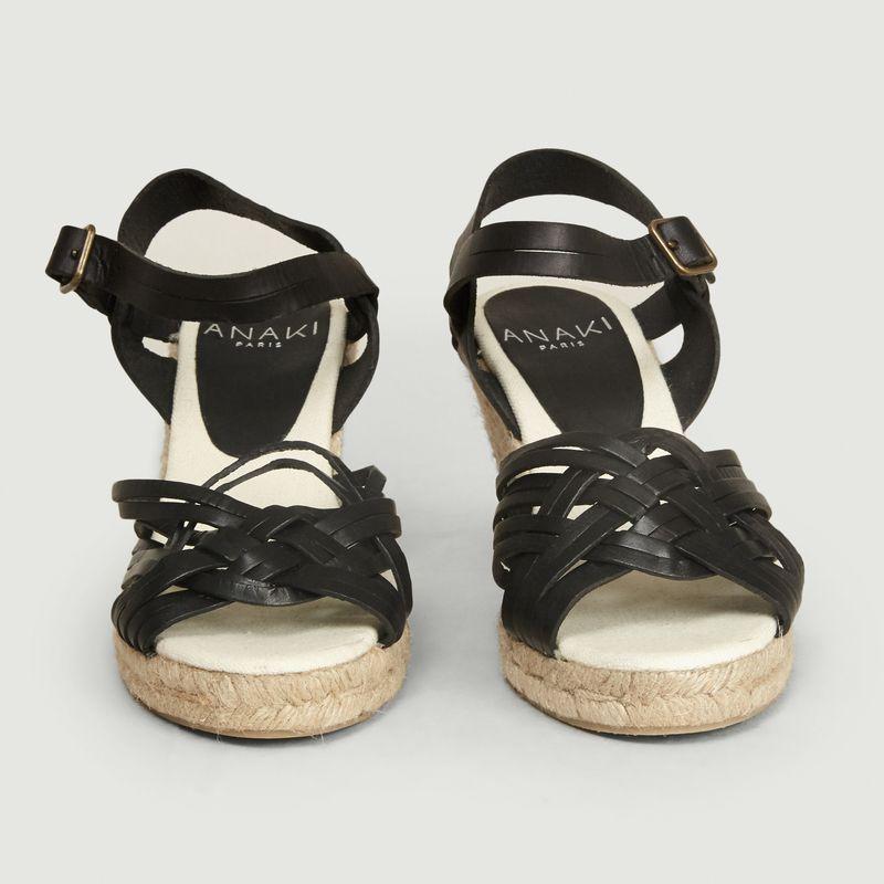 Sandales compensées en cuir et corde Paola - Anaki
