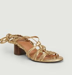 Camille cracked leather sandals