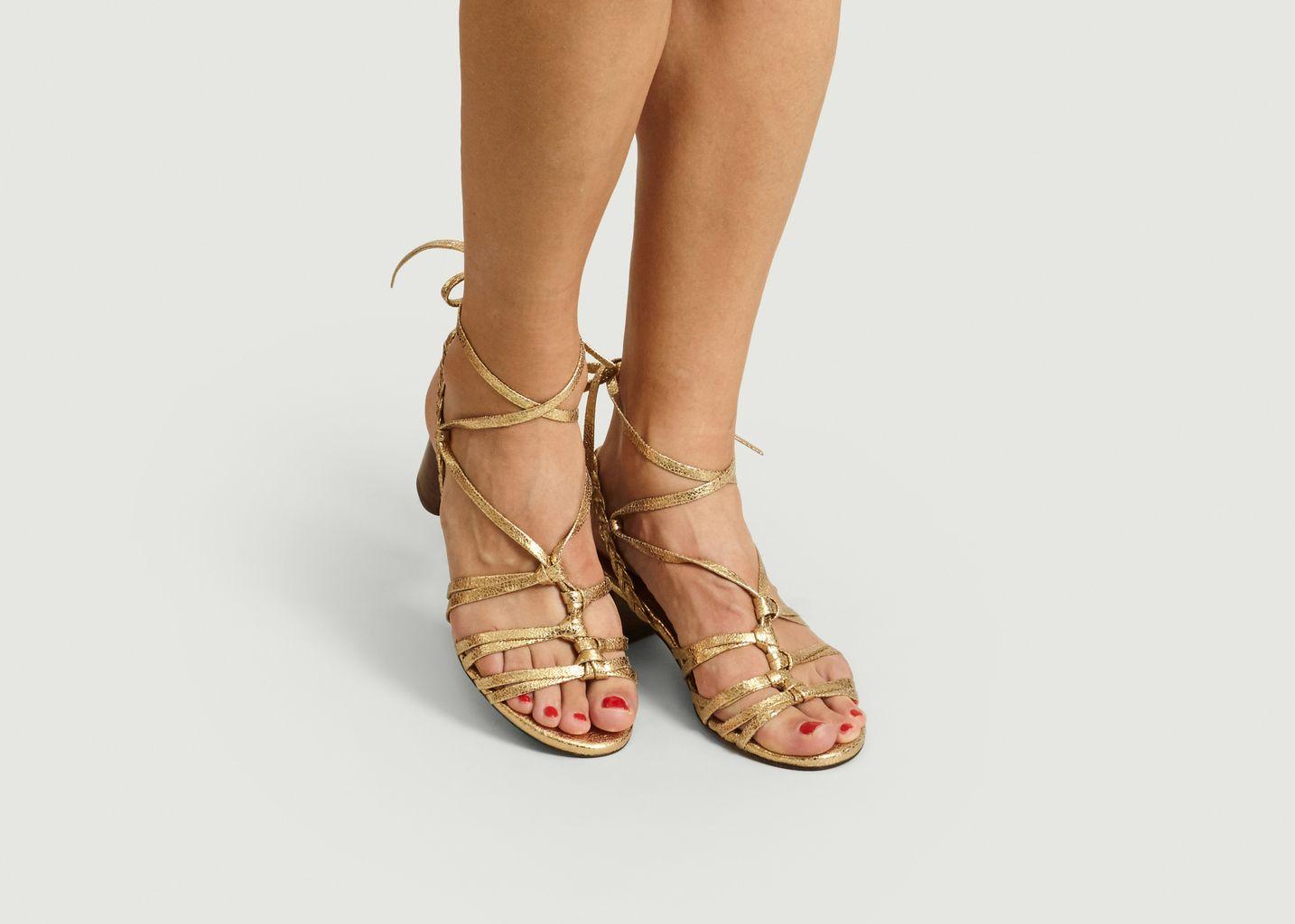 Sandales en cuir craquelé Camille - Anaki