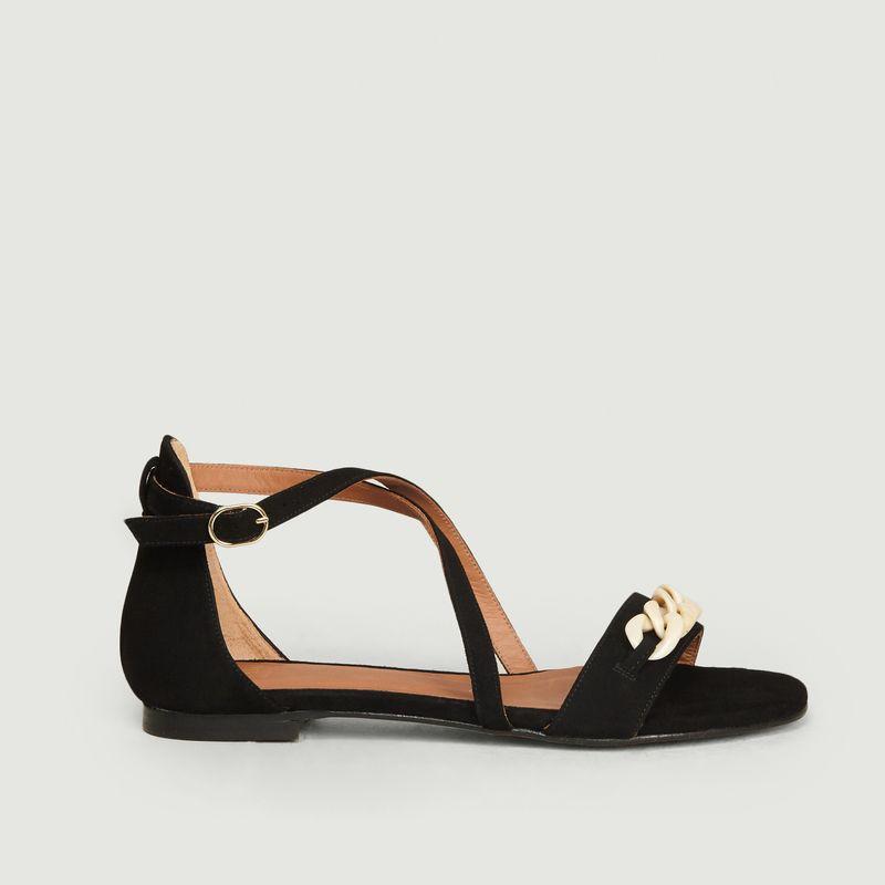 Sandales plates en daim Canelle - Anaki