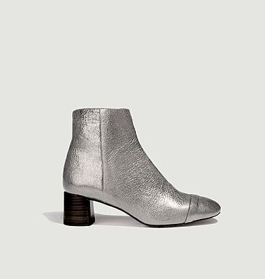 Boots en cuir métallisé Danna