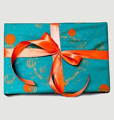 Papier cadeau réutilisable Un Baiser à Minuit M