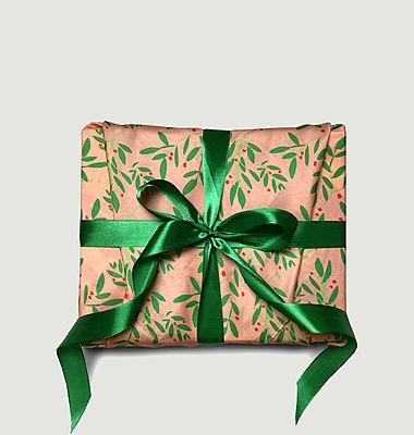 Papier cadeau réutilisable Une Branche de Houx M