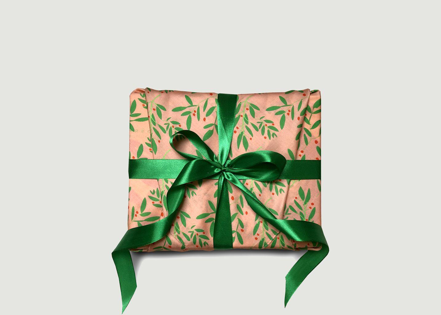 Papier cadeau réutilisable Une Branche de Houx M - Carédeau