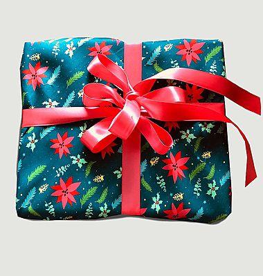 Papier cadeau réutilisable La Forêt de Noël M