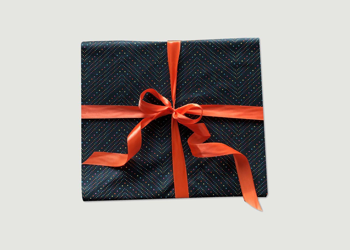 Papier cadeau réutilisable Fêtards L - Carédeau