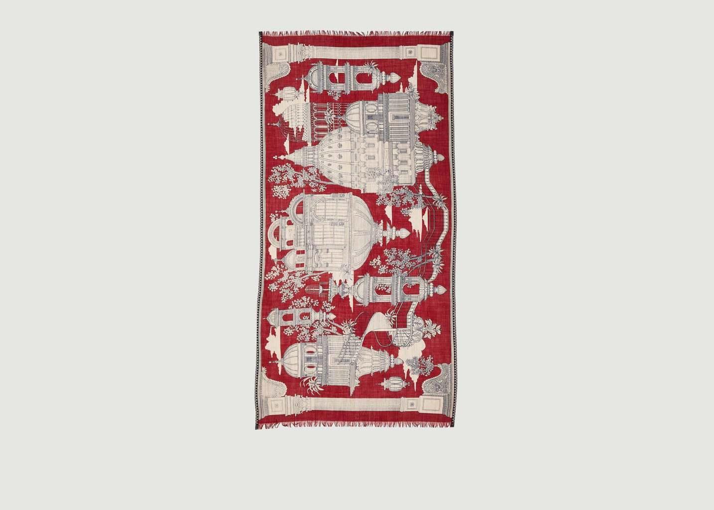 Foulard Archipel 100x190 - Inouitoosh