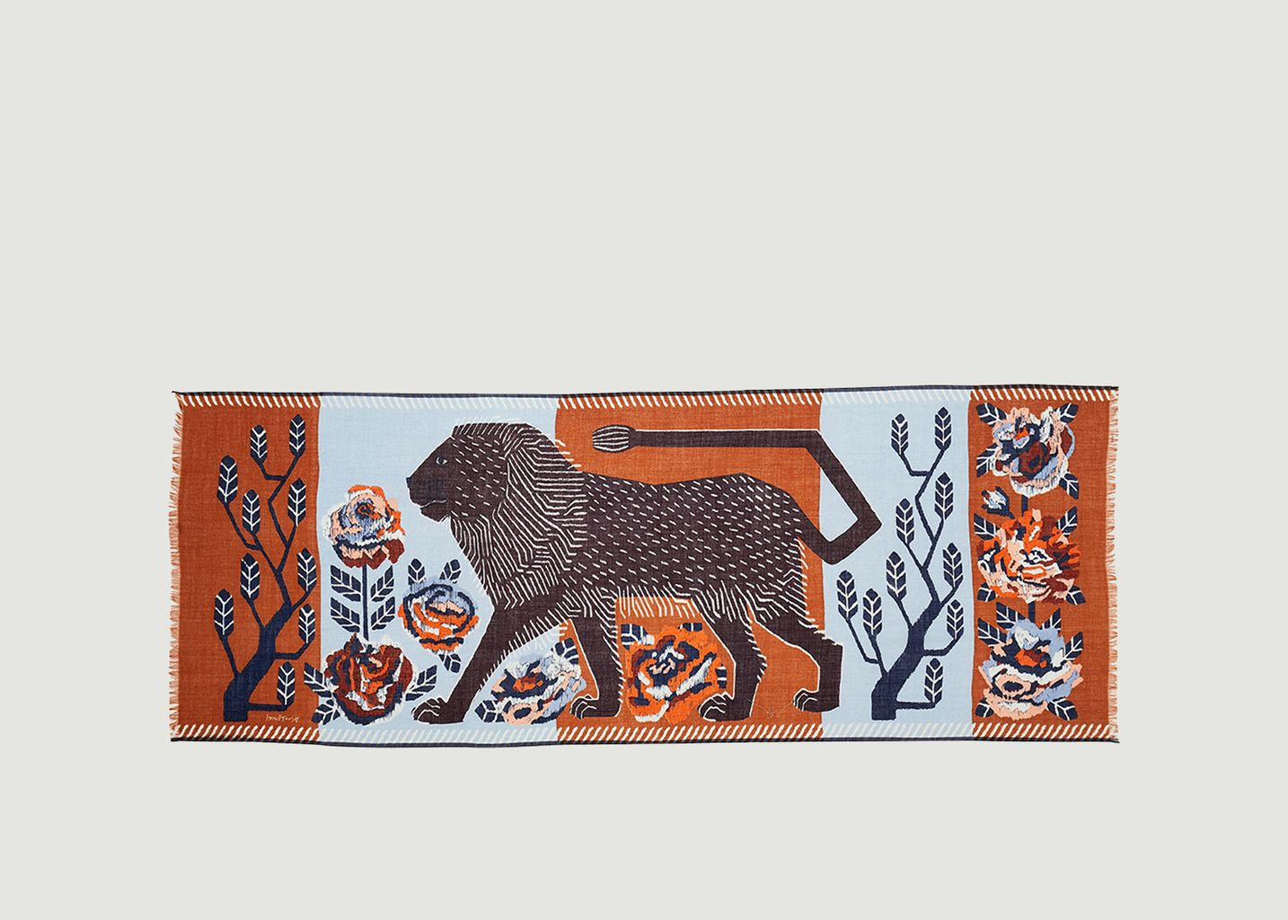 Etole motif lion et fleurs en laine Felide - Inouitoosh