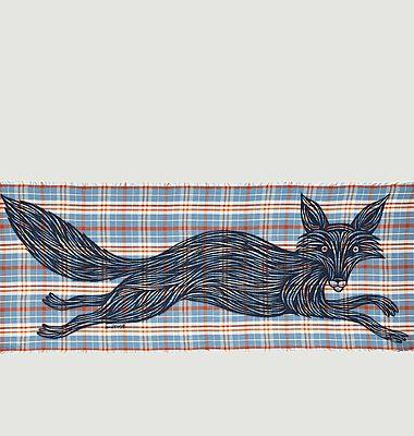 Etole motif renard et carreaux Rox