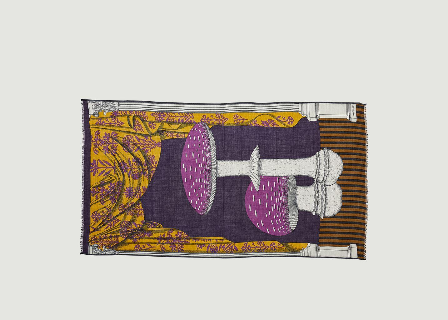 Etole imprimée en laine Monsieur Bon - Inoui Editions