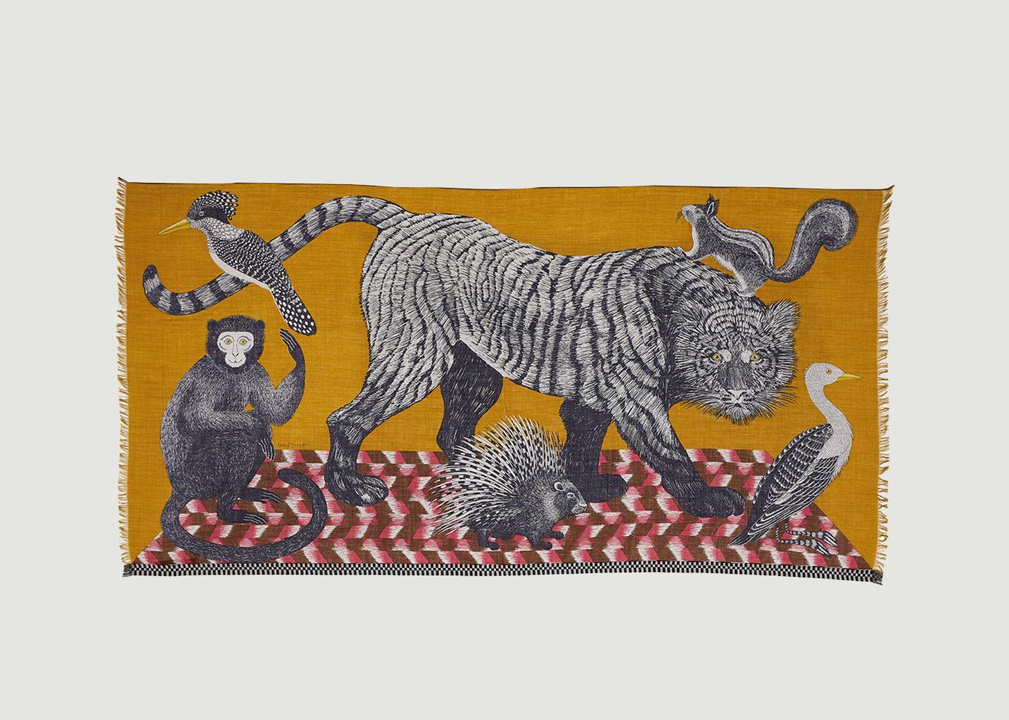 Etole imprimée animaux en laine Germain - Inouitoosh