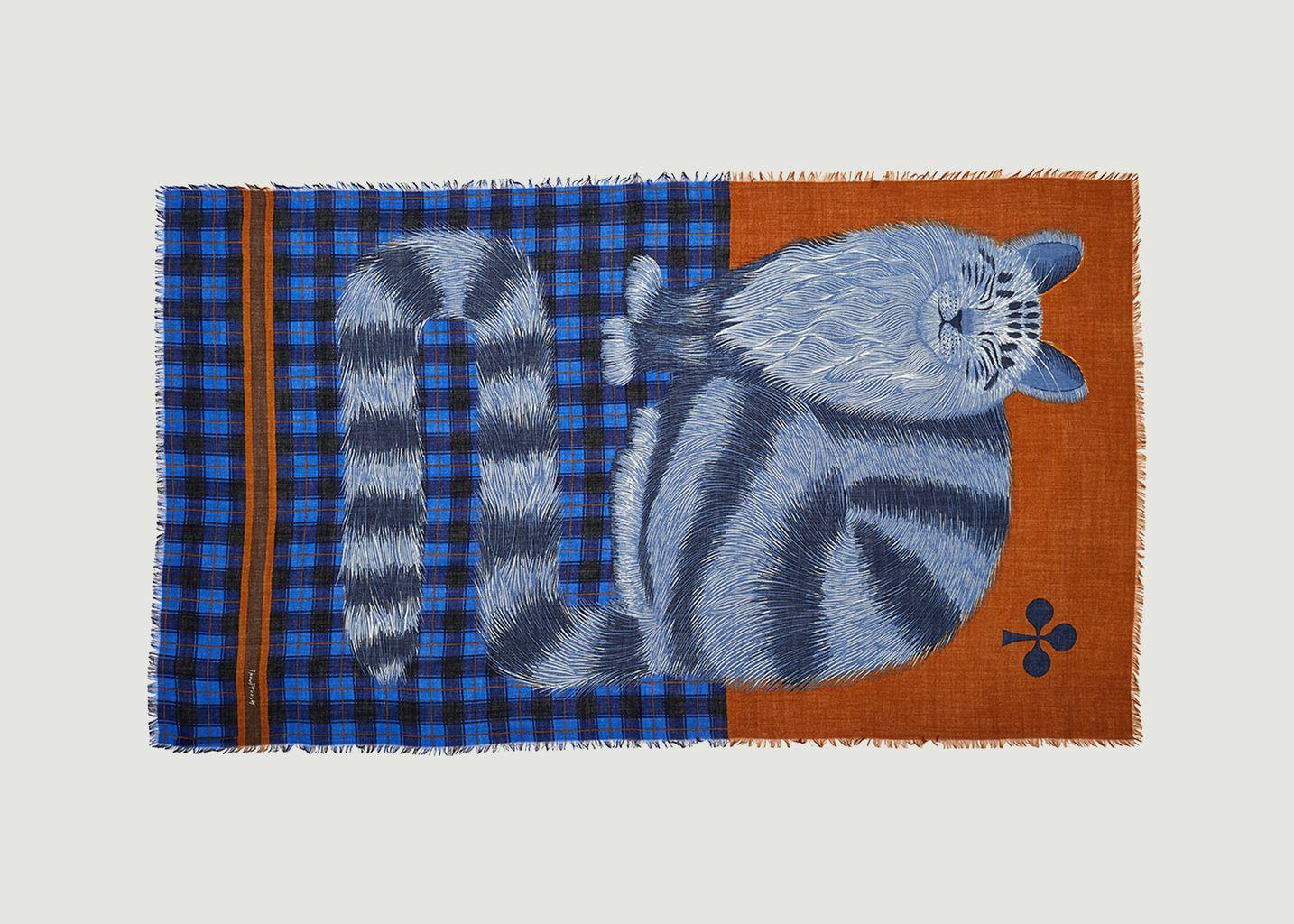 Etole en laine motif chat Grosse Truffe - Inouitoosh