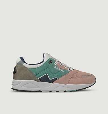 Sneakers de running en cuir suédé et mesh Aria 95