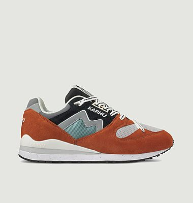 Synchron Classic suede leather and mesh running sneakers