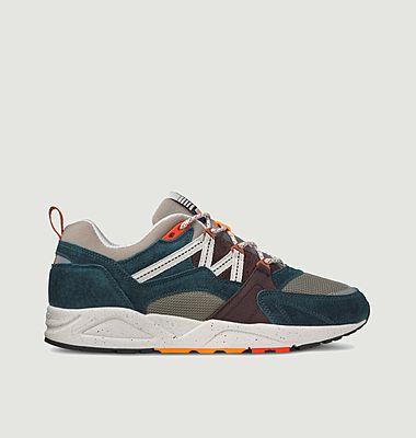 Sneakers de running en cuir suédé et tissu Fusion 2.0