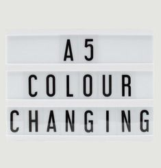A5 Colour Changing Light Box