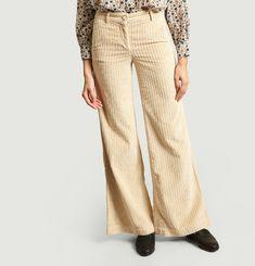 Pantalon Flare En Velours Jean