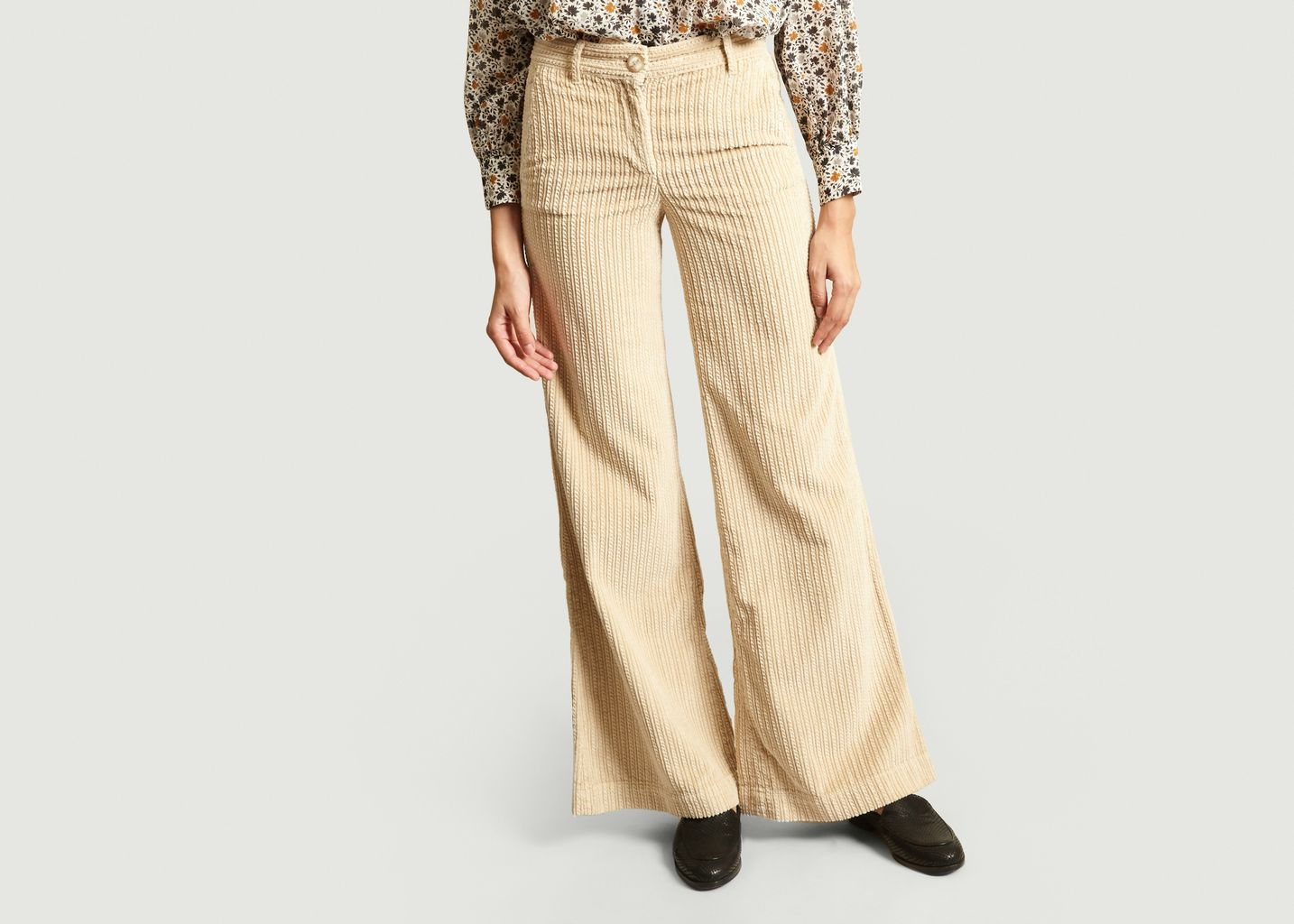 Pantalon Flare En Velours Jean - Masscob