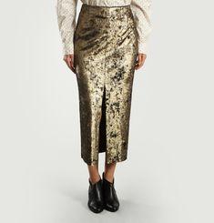 Lamée Star Midi Skirt