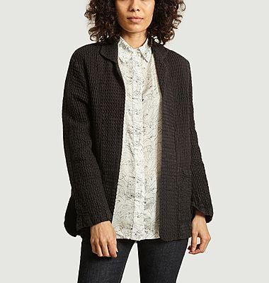 Veste Moraes gaufrée en coton et en lin
