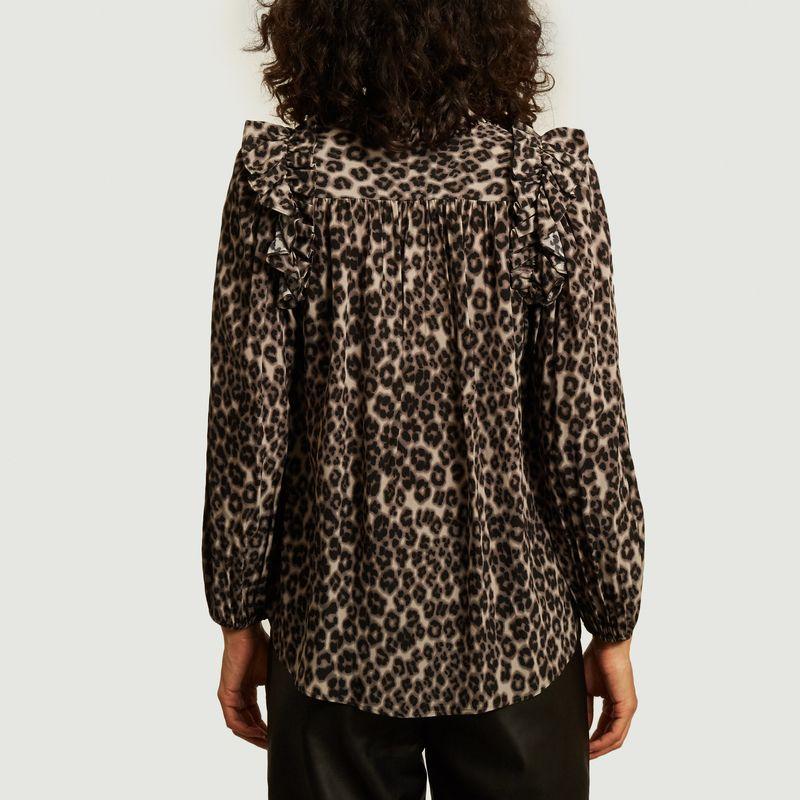 Blouse Mavis imprimé léopard  - Masscob