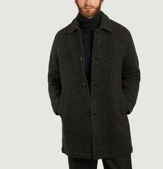 Manteau ample en laine mérinos Caufield