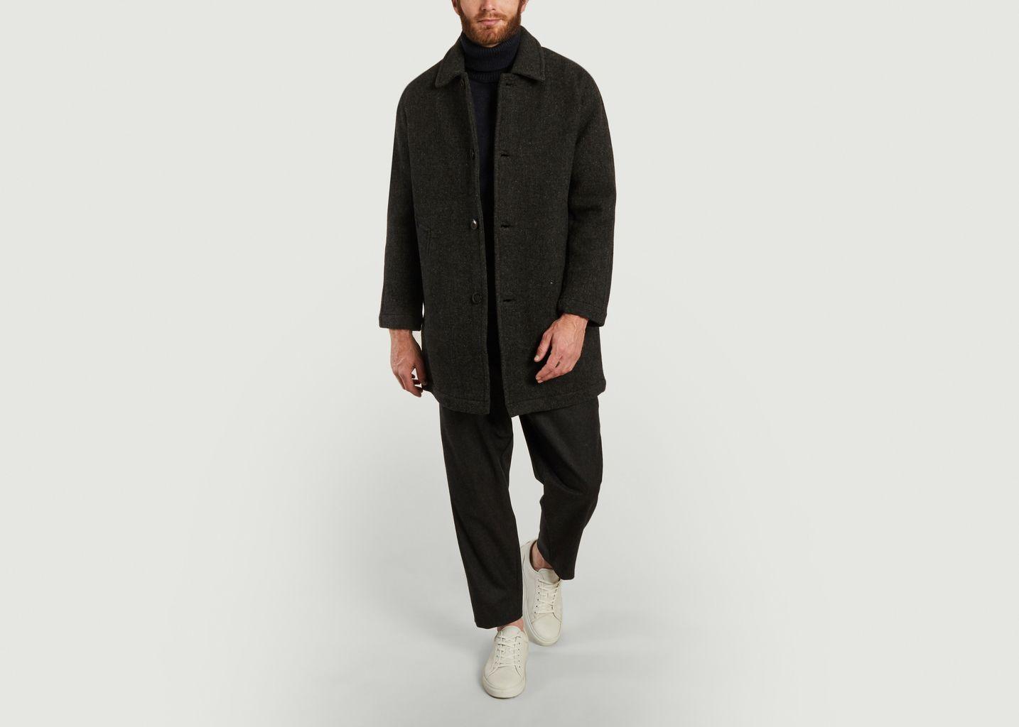 Manteau ample en laine mérinos Caufield - Outland