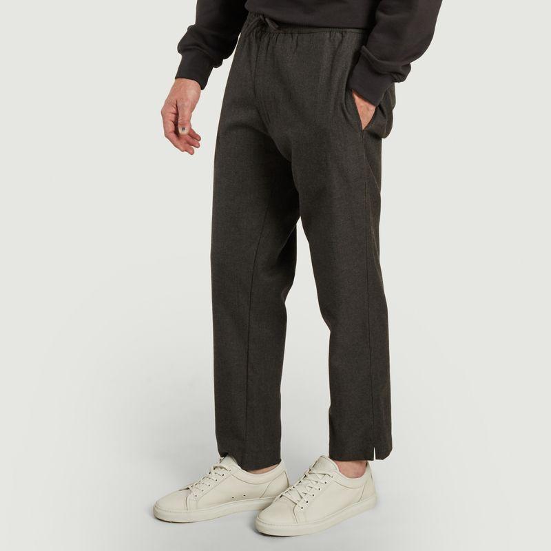 Pantalon relax en laine et coton - Outland