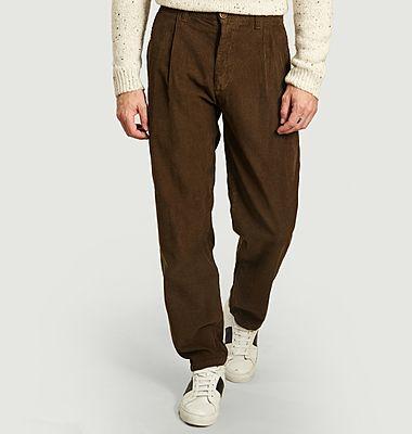 Pantalon large en velours cotêlé