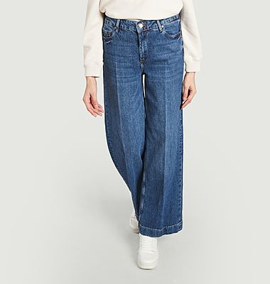 High waist and flared Page jeans
