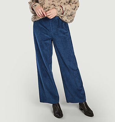 Pantalon ample en velours côtelé Felicity