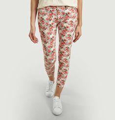 Sandy Peonies Print 7/8 Length Trousers