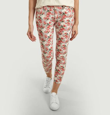 Sandy Peonies Print 7/8 Length Trousers