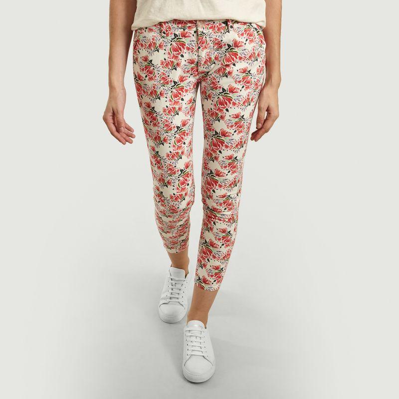 Pantalon Imprimé Pivoines 7/8e Sandy - Reiko