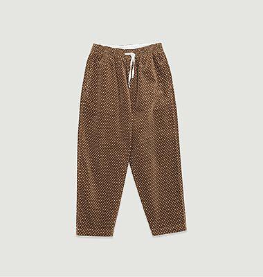Pantalon en velours à pois loose cropped Alva