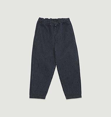 Pantalon rayé cropped Alva