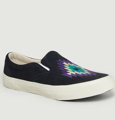 Sneakers Slip-On Brodées