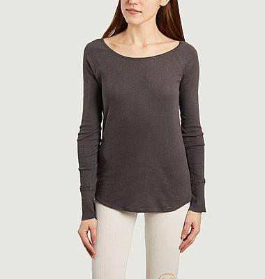 T-shirt manches longues de yoga en coton et modal Vishama