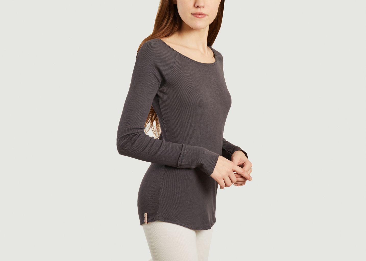 T-shirt manches longues de yoga en coton et modal Vishama - Yoga searcher