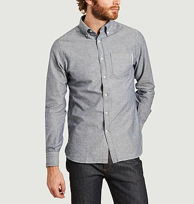 shirt oxford indigo selvedge