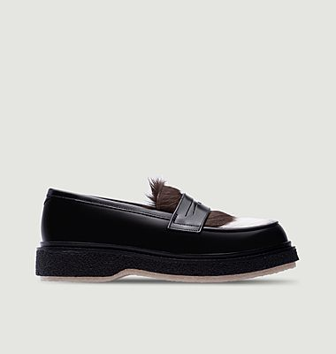Type 05 Adieu x Très Bien leather and naturel hairs loafers