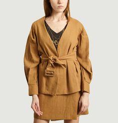 Veste de tailleur en coton et lin Barbara