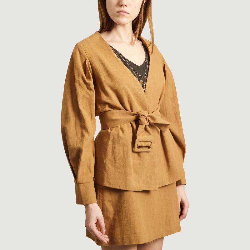 Veste de tailleur en coton et lin Barbara - Admise Paris