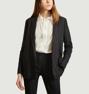 Camille tailored jacket with tennis stripes