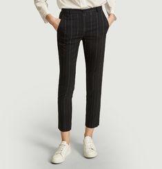 Pantalon de tailleur à rayures tennis George